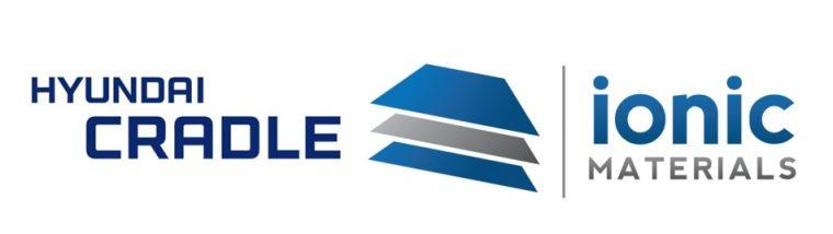 Hyundai Cradle and Ionic Materials logos