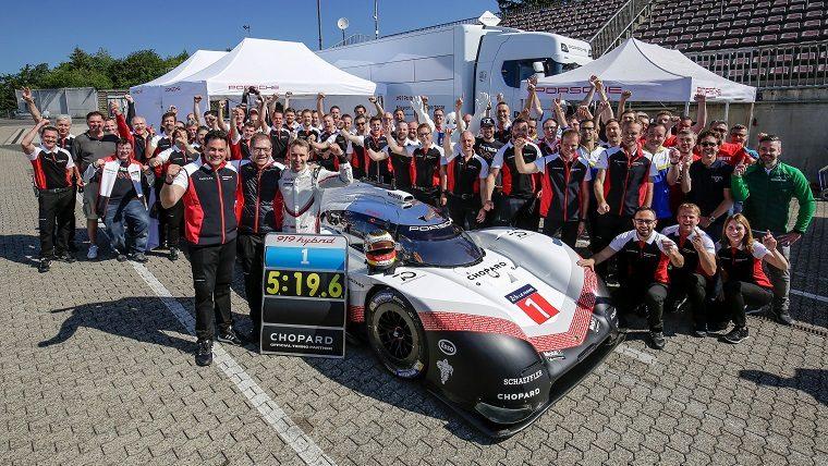 Porsche Team Hybrid 919 Evo at Nordschleife