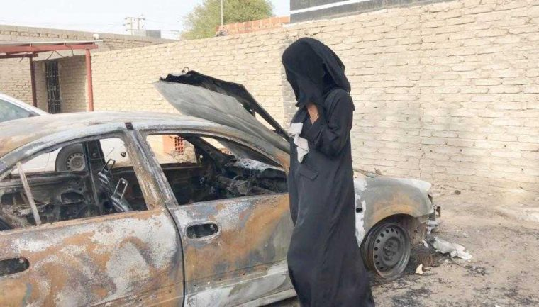 Saudi Arabia Car Burned