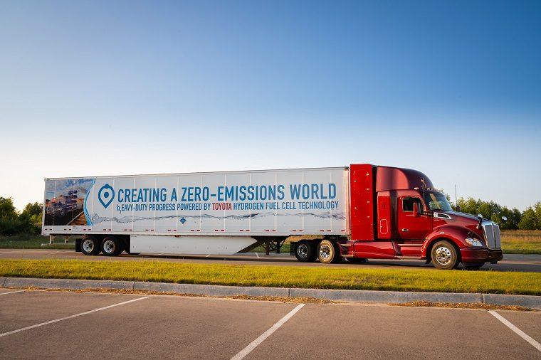 Toyota's hydrogen fuel cell truck