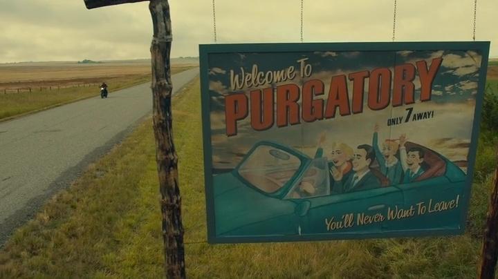 Wynonna Earp Purgatory Sign