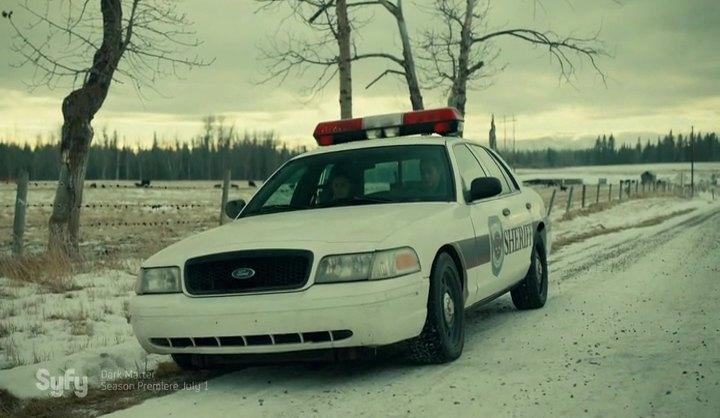 Wynonna Earp White 2006 Ford Crown Victoria Nicole Haught Police Car
