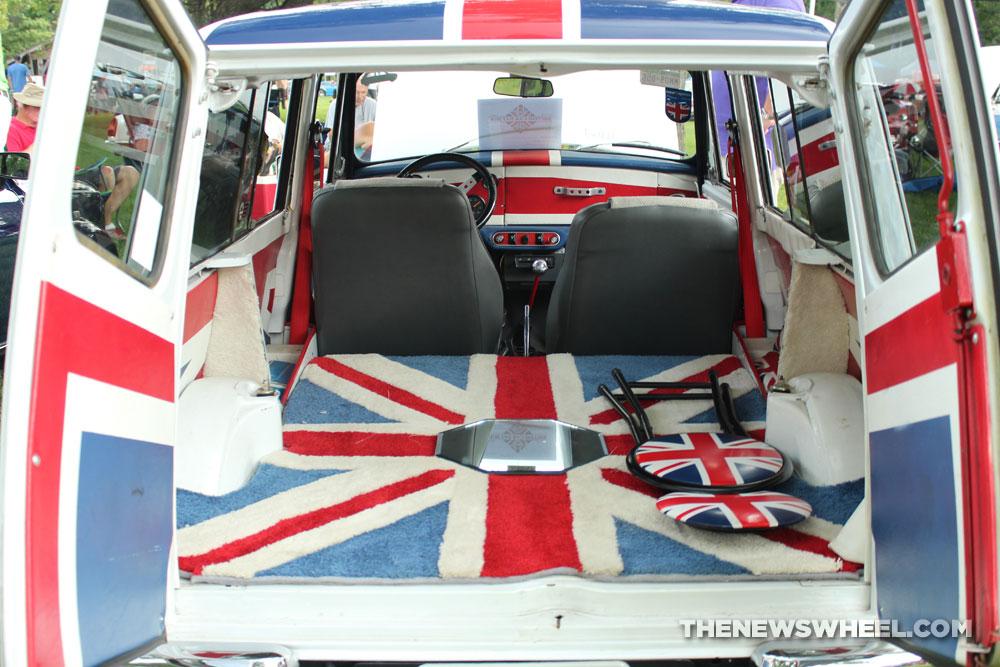 1975 MINI Cooper Clubman estate with custom Union Jack interior