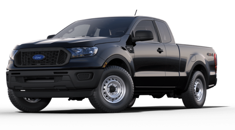 2019 Ford Ranger XL SuperCab Shadow Black side