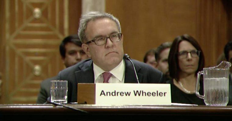 Acting EPA administrator Andrew Wheeler
