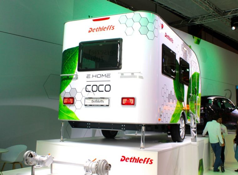 Dethleffs e-Home Coco self-propelling electric trailer