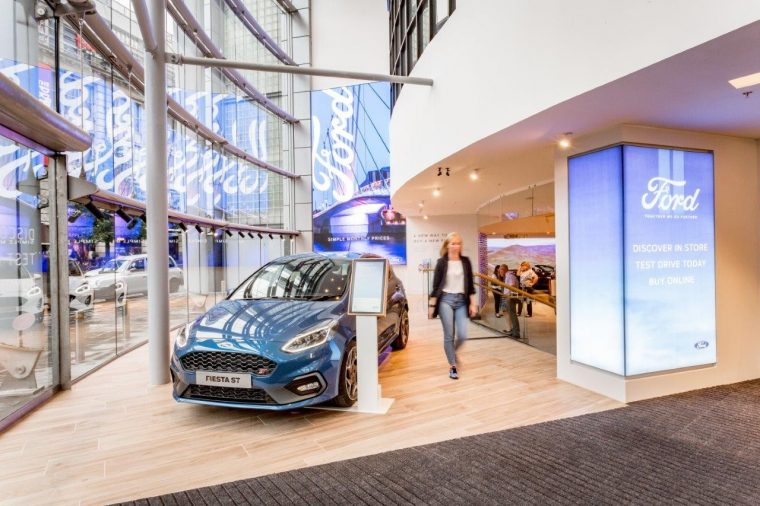 Ford Vehicle Showroom >> Ford Launches Showroom At Next Store At Manchester Arndale The