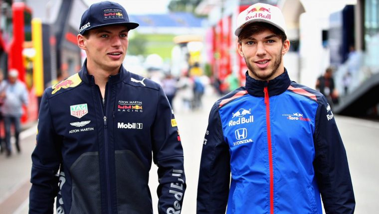 Max Verstappen and Pierre Gasly