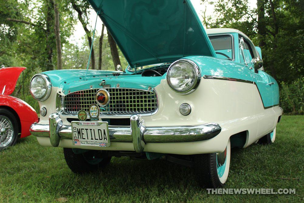 Metropolitan 1500 classic green car Dayton British Car Show