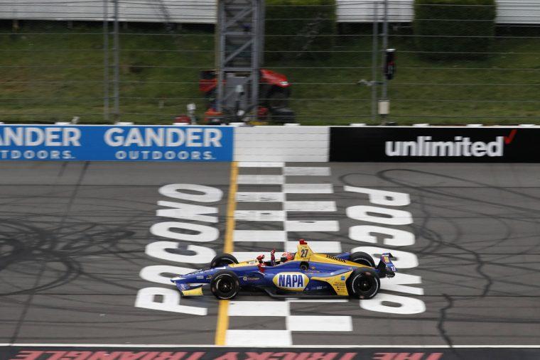 Rossi wins at 2018 Pocono 500