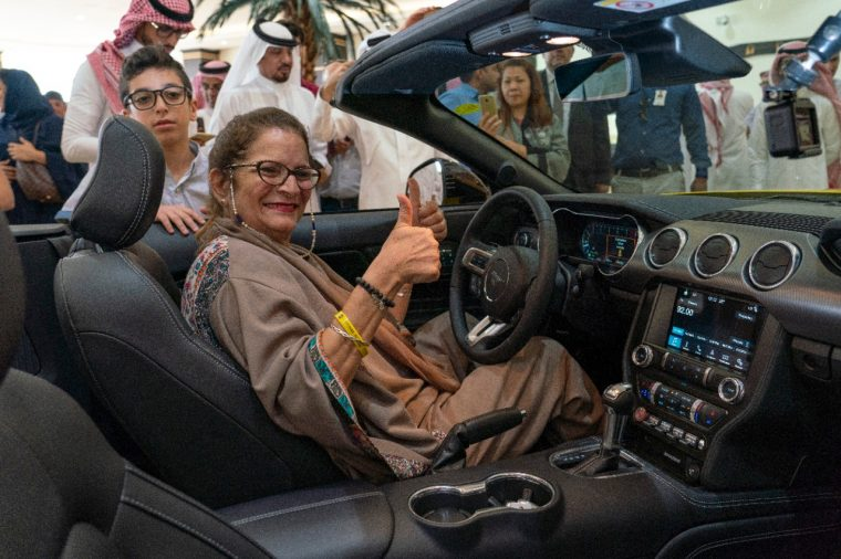 Saudi Woman Receives 2018 Ford Mustang GT