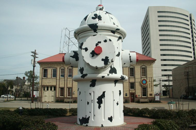 dalmatian fire hydrant