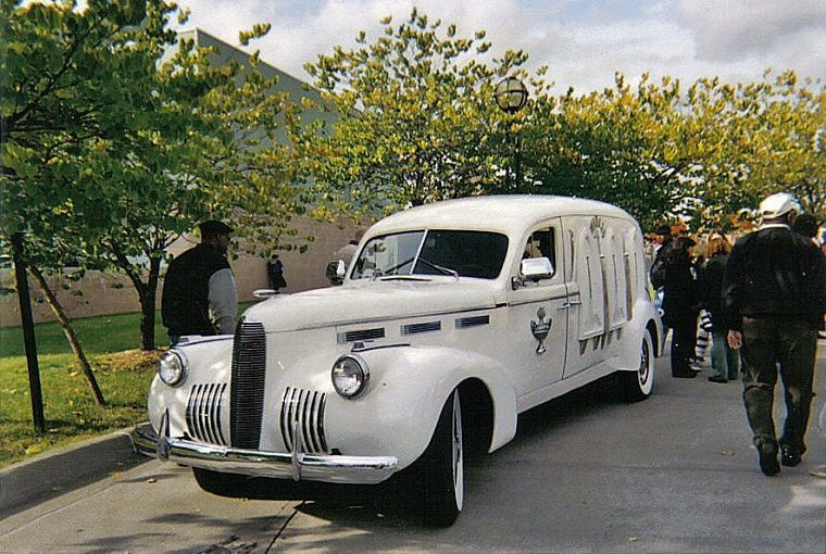Aretha Franklin Cadillac hearse