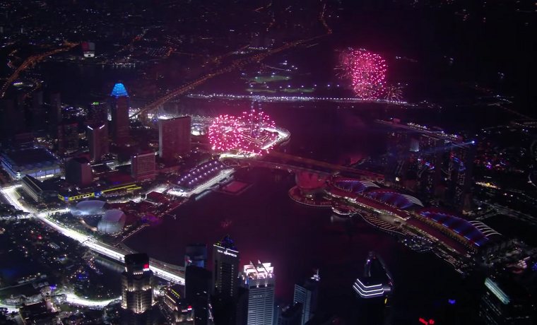2018 Singapore GP Fireworks