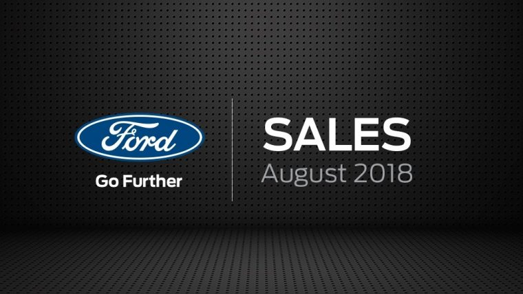 Ford August 2018 sales