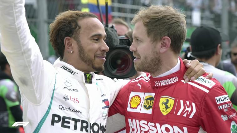 2018 Mexican GP Hamilton & Vettel