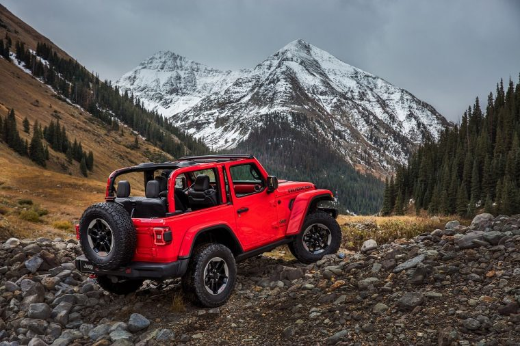 2018 jeep wrangler rubicon red soft top