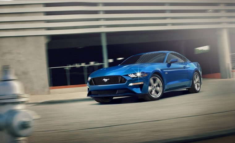 2019 Ford Mustang blue