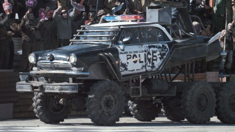 Death Race Beyond Anarchy movie cars drivers Johnny Law police car