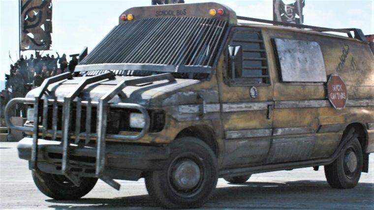 Death Race Beyond Anarchy movie cars drivers Matilda the Hun School Bus Van