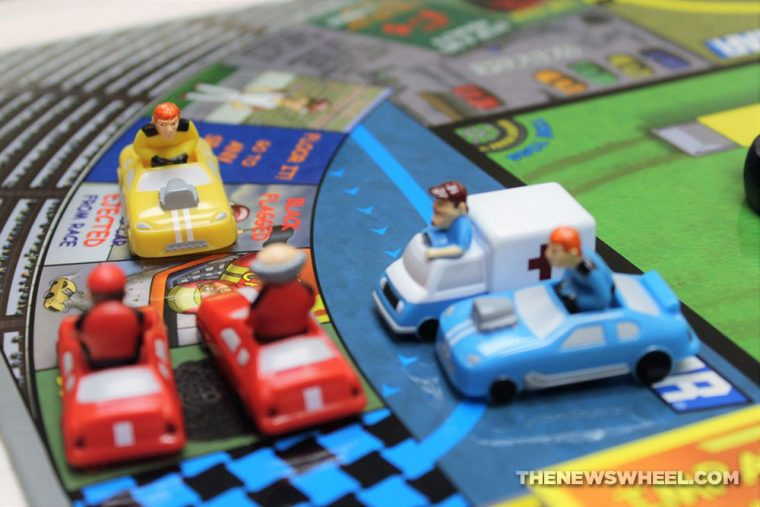Griddly Headz Racing board game review NASCAR family motorsports tabletop toys racers
