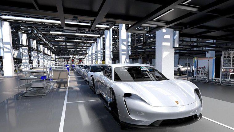 Porsche Taycan Assembly Line