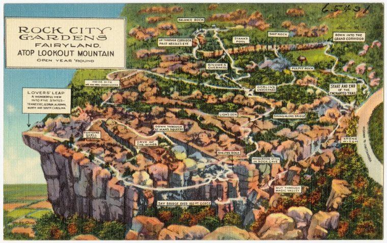 rock city gardens fairyland map georgia
