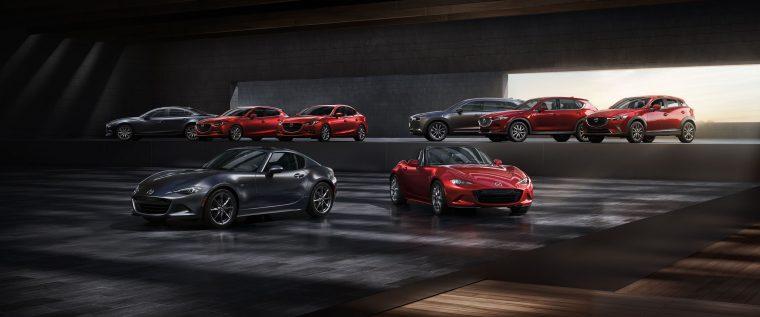 2018 Mazda lineup family shot