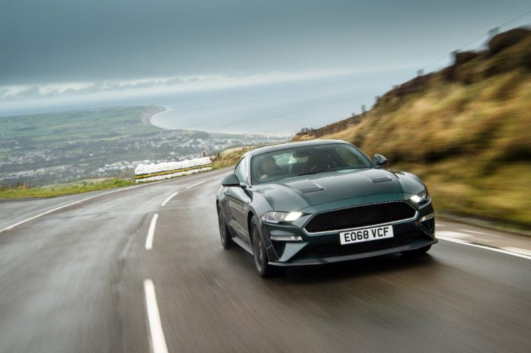 Ford Mustang Bullitt on Isle of Man Mountain Road