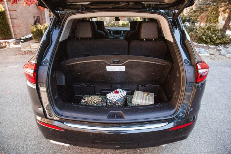 Hiding spots for presents in a Buick Enclave