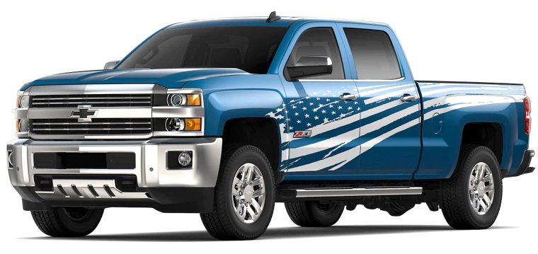 "Chevy Offers Patriotic ""Tribute Edition"" for 2019 Silverado 2500HD, 3500HD - The News Wheel"