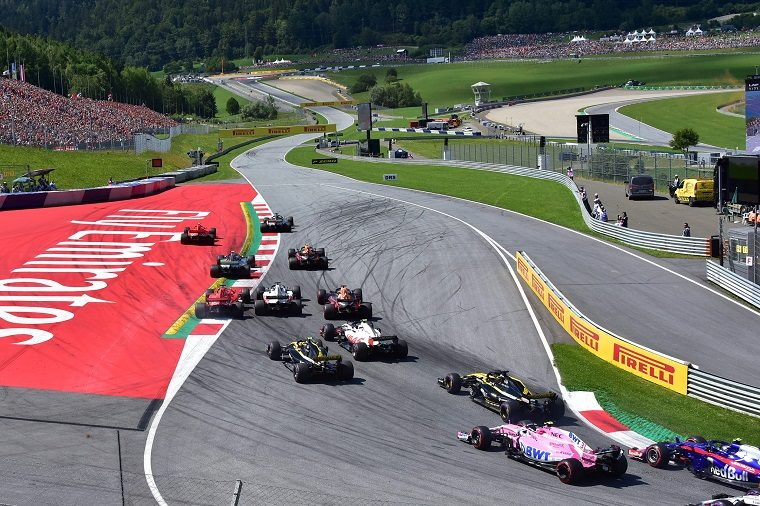 Turn 1 at 2018 Austrian GP