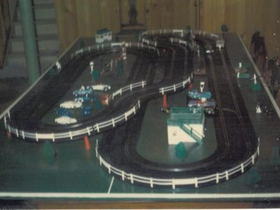 slot car racing with dad memories basement track family hobby table set