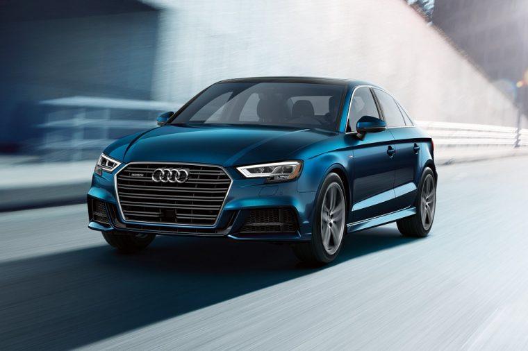 2019 Audi A3 exterior blue