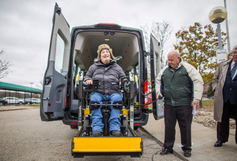 Ford Adds Wheelchair Lift to Employee Shuttle Service
