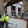 Ford begins its four-year renovation of Michigan Central Station in Detroit's historic Corktown neighborhood.