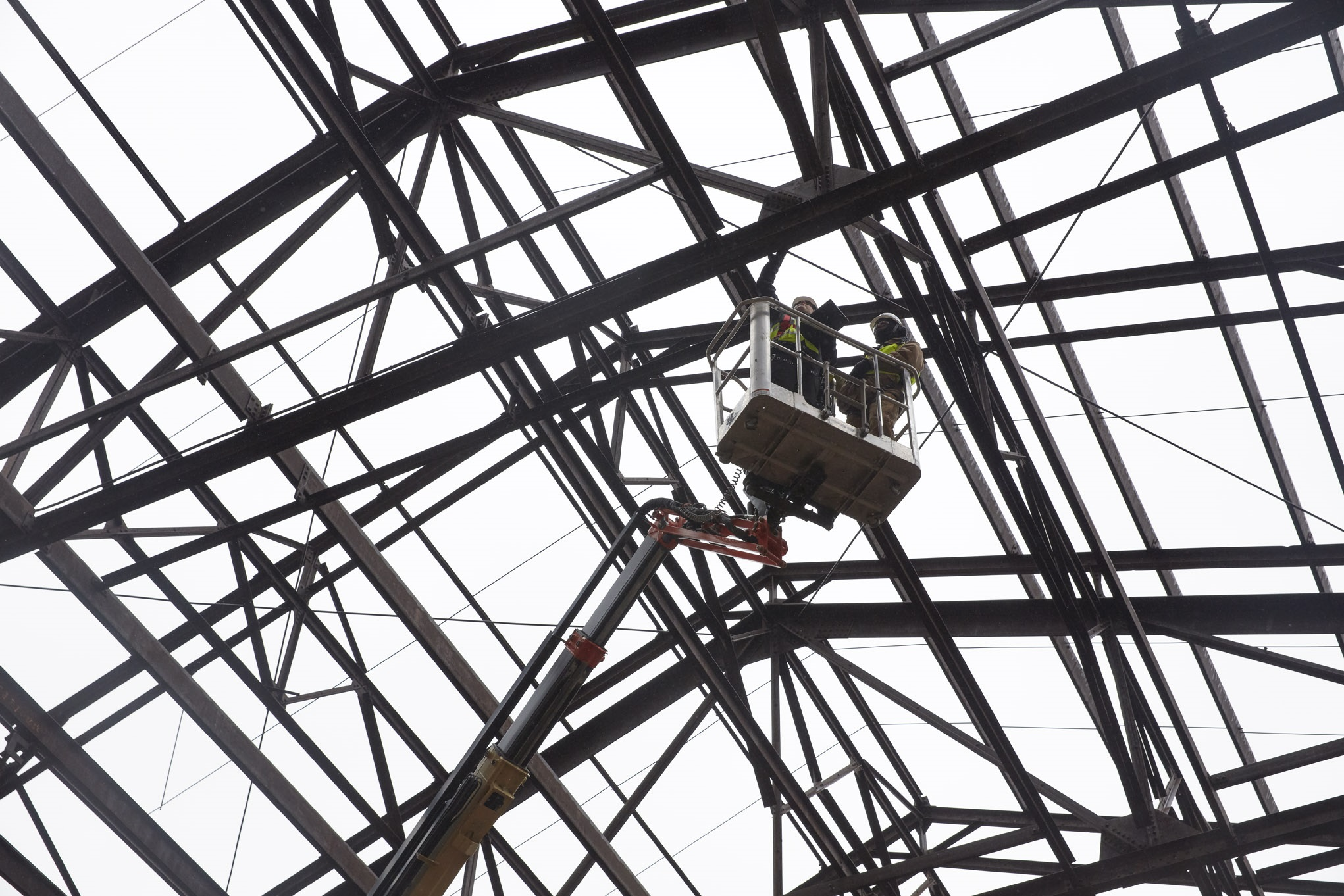 construction underway at michigan central station the news wheel Decorative Metal Beams