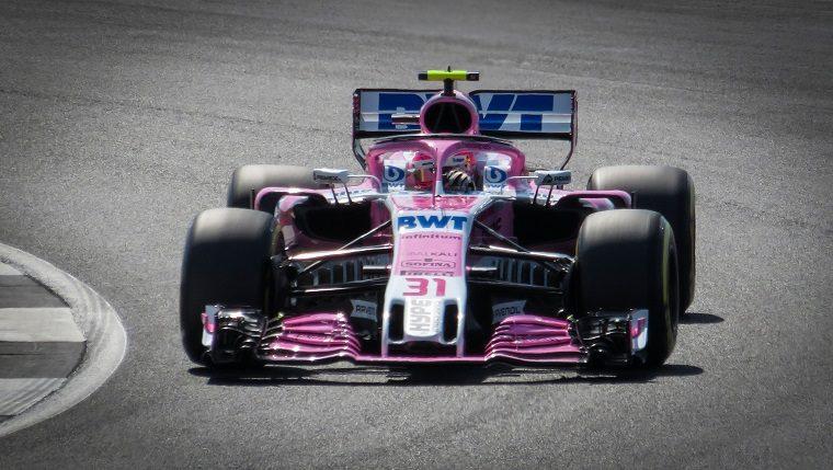 Esteban Ocon in the 2018 Force India