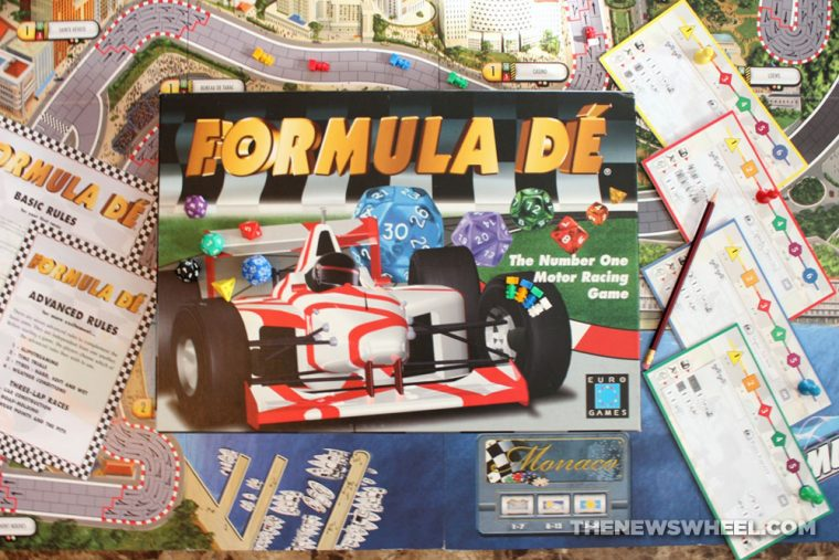 Formula De review car motor racing board game EuroGames 1991
