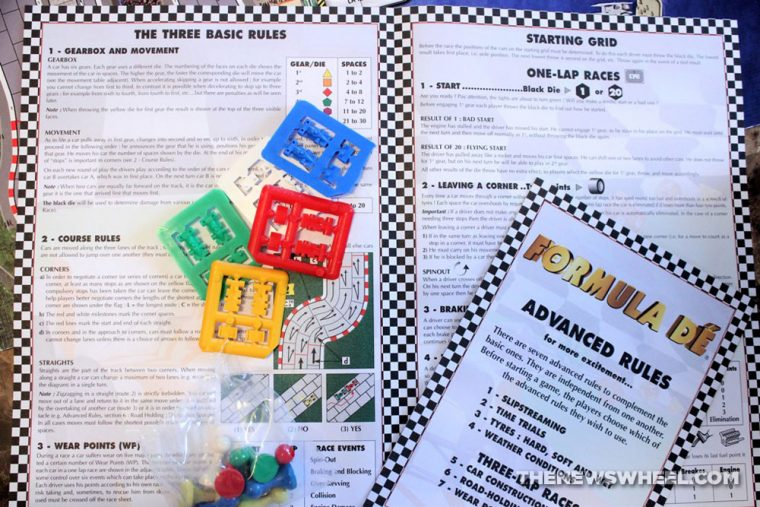 Formula De review car motor racing board game EuroGames 1991 instructions directions