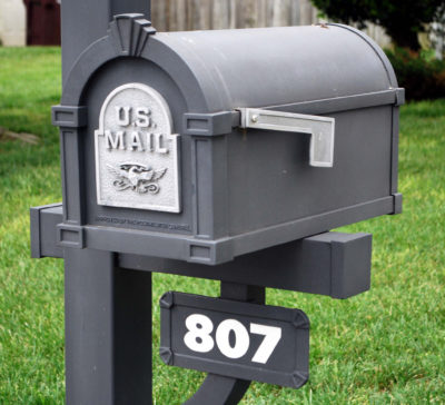 Mailbox street address house number determined