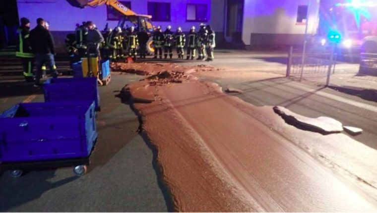 chocolate spill in germany