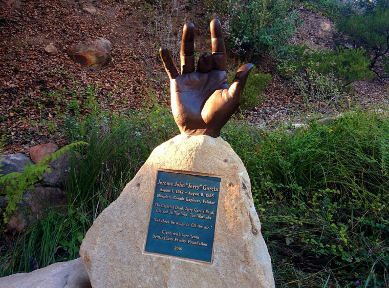 jerry garcia hand statue santa barbara bowl california