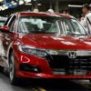 2018 Honda Accord on assembly line