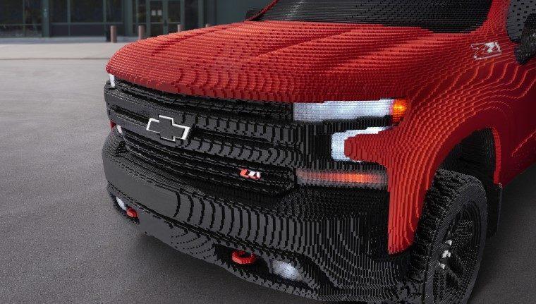 2019 Chevrolet Silverado 1500 full-size Lego replica