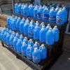 Blue windshield washer fluid
