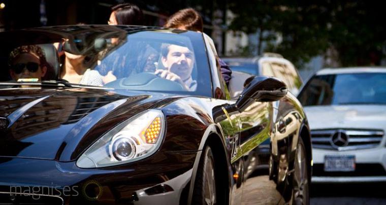 Billy McFarland Magnises Brunch Party Ferrari Convertible
