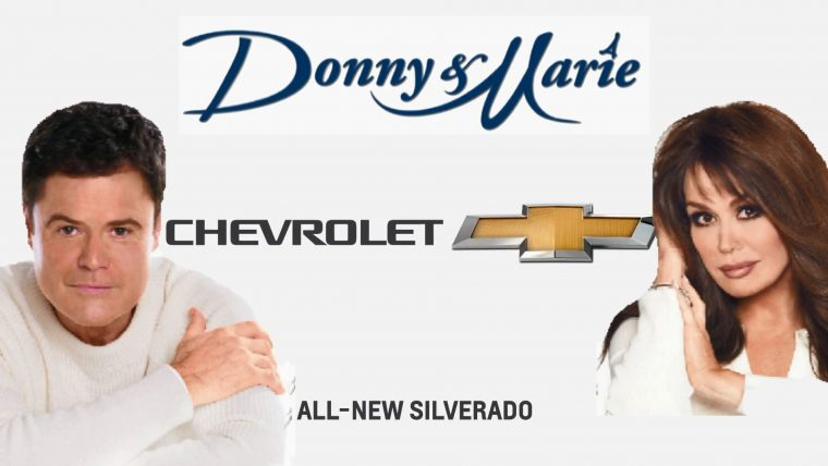 Donny Osmond and Marie Chevrolet Silverado ad