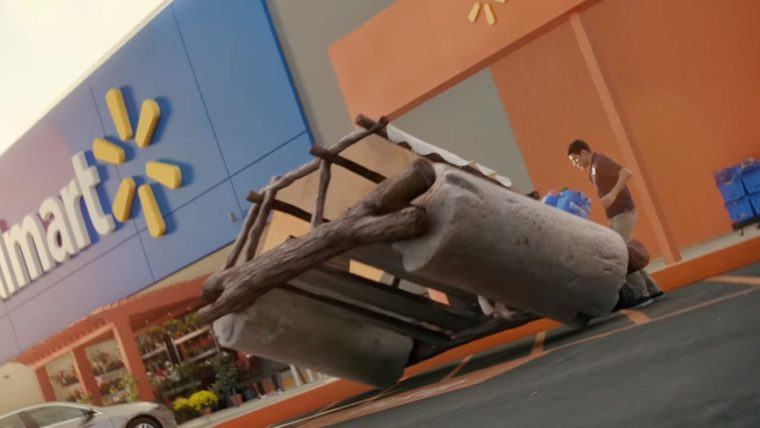 Famous movie cars in Walmart commercial vehicles Flintstones