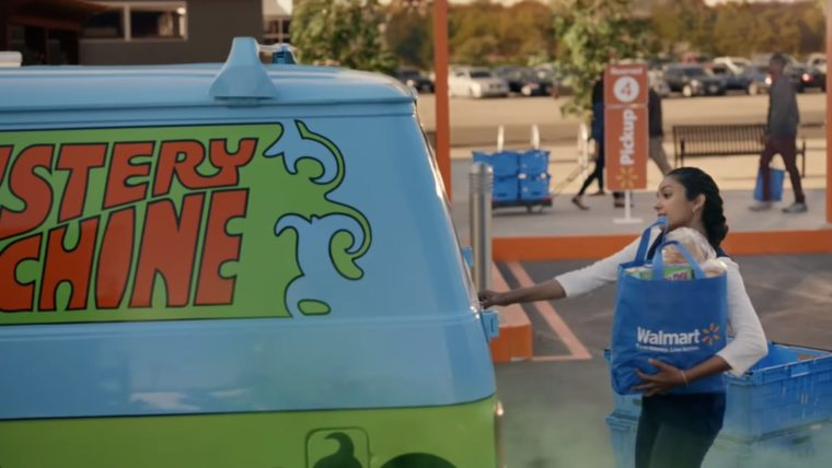Famous movie cars in Walmart commercial vehicles Scooby Mystery Machine